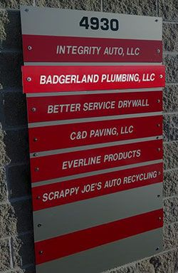 Badgerland Plumbing Sign