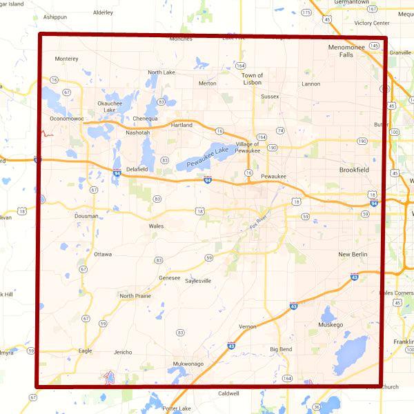 Waukesha County Map
