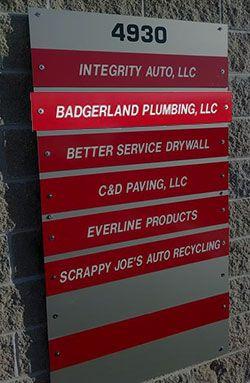 Badgerland Plumbing Sign